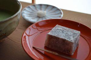 生菓子とお抹茶